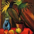 Still Life with Palms by August Macke - 24x18 IN Canvas