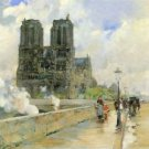 Cathedral of Notre Dame, 1888 by Hassam - 24x32 IN Canvas
