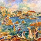 At the beach of Guernesey by Sisley - 24x32 IN Canvas