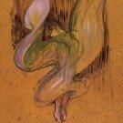 Study for Loie Fuller by Toulouse-Lautrec - 24x32 IN Canvas