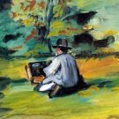 Painter at Work by Cezanne - A3 Poster