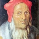 Portrait of a bearded man with red cap by Durer - 30x40 IN Canvas