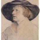 Portrait drawing of Bonifacius Amerbach. c.1525 - 24x18 IN Canvas