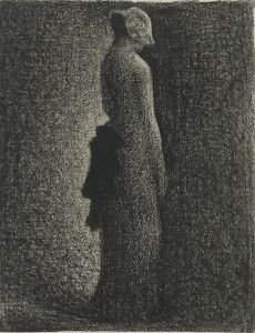 Seurat - The Black Bow - 30x40IN Paper Print