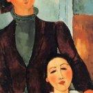 Modigliani - Jacques Lipchitz and his woman - A3 Poster