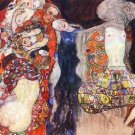 adorn the bride with veil and wreath by Klimt - 24x18 IN Canvas