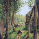 Forest Scene with Two Fgures - A3 Poster