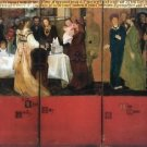 The family picture of Epps, panels 4-6 by Alma-Tadema - 30x40 IN Canvas