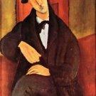 Modigliani - Portrait of Mario Varfogli [2] - 24x32 IN Canvas