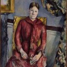 Portrait of Madame Cezanne in a Red Dress, 1888-90 - 24x18 IN Canvas
