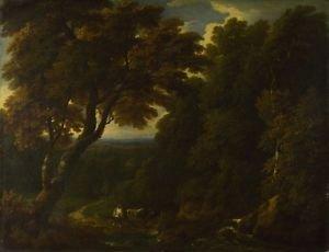 Jan-Baptist Huysmans - A Cowherd in a Woody Landscape - 30x40IN Paper Print