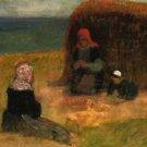 Breton Women with Haystack, 1890 - 30x40 IN Canvas