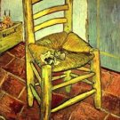 Vincent's chair with pipe by Van Gogh - 30x40 IN Canvas