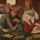 The moneychanger and his wife (1539) - A3 Poster