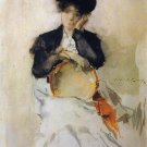 Girl with Tambourine, 1886 - 24x18 IN Canvas