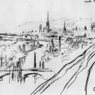 View of Rouen (sketch) - 30x40 IN Canvas