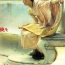 A reading of Homer, detail [2] by Alma-Tadema - 24x32 IN Canvas