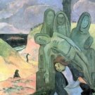 Green Christ by Gauguin - 24x32 IN Canvas