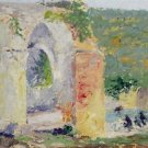 Aqueduct with Figures Bathing - 24x18 IN Canvas
