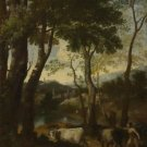 Gaspard Dughet - Landscape with a Cowherd - A3 Paper Print
