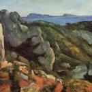 Rocks at L'Estaque, 1879-82 - A3 Poster