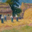 Threshing of Grain, 1897 - 24x32 IN Canvas