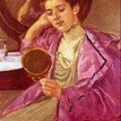 Antoinette at her Dresser by Cassatt - A3 Poster