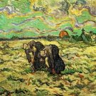 Two Peasant Women Digging in Field with Snow - Poster (24x32IN)