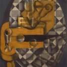 Juan Gris - Guitar and Glasses - 24x32IN Canvas Painting