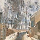 Townscape of Louveciennes, 1872 - 30x40 IN Canvas