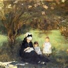 1874 Lilacs With Maurecourt - 30x40 IN Canvas