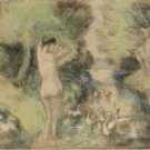 Bathing with Geese, 1895 - 30x40 IN Canvas