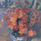 Vase with Chrysanthemums, 1885 - 30x40 IN Canvas