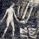Bather with Geese, 1895 - 30x40 IN Canvas