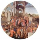 Adoration of the Magi (London) [2 by Botticelli - 24x18 IN Canvas