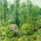 Spring Landscape with a Farmer and White Horse, 1906 - 24x32 IN Canvas