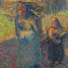 Peasant Women Carrying Brushwood - 24x32 IN Canvas