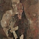 Egon Schiele - Death and Man - A3 Paper Print