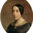 A Portrait of Amelina Dufaud Bouguereau 1850 - 24x18 IN Canvas
