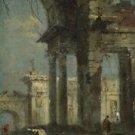 Francesco Guardi - Caprice View with Ruins (1) - A3 Paper Print