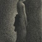 Seurat - The Black Bow - A3 Paper Print