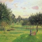 Two Women in a Meadow - Sunset at Eragny, 1897 - A3 Poster