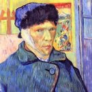 Self-Portrait with cut ear [2] by Van Gogh - A3 Paper Print