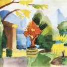 Garden in Hilterfingen by August Macke - A3 Poster