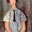Modigliani - Girl with blouse - 24x18 IN Canvas