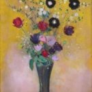 Vase of Flowers, 1916 - 24x18 IN Canvas