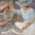 Marthe and Nono, 1917 - 24x18 IN Canvas