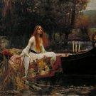 John William Waterhouse - The Lady of Shalott - 24x18 IN Canvas