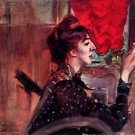 The red curtain by Giovanni Boldini - 30x40 IN Canvas