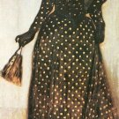 Woman with white-dotted dress by Giovanni Segantini - 30x40 IN Canvas